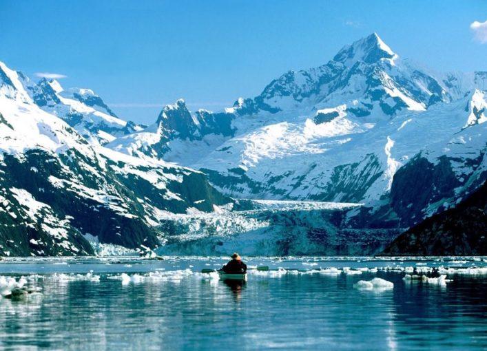 Glacier Bay National Park Alaska kayaking on Glacier