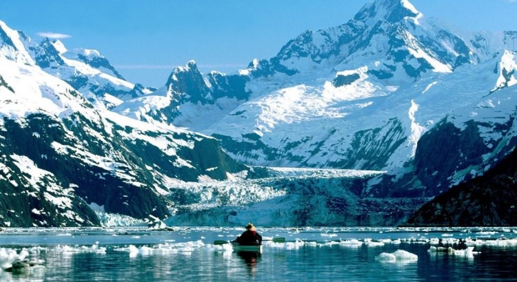 Glacier Bay National Park Alaska kayaking on Glacier