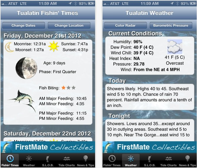 FirstMate app for fishing