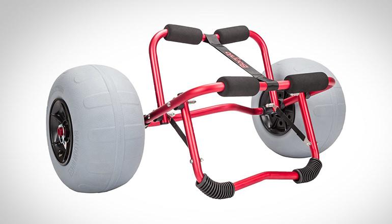 kayak beach cart with big balloon tires