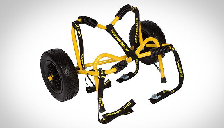 Suspenz Yellow Smart airless DLX kayak cart