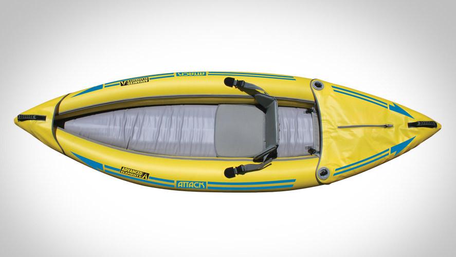 Inflatable white water kayak