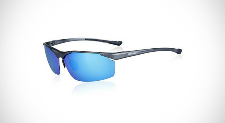 SUNGAIT Metal Frame Polarized SunGlasses for Fishing Men