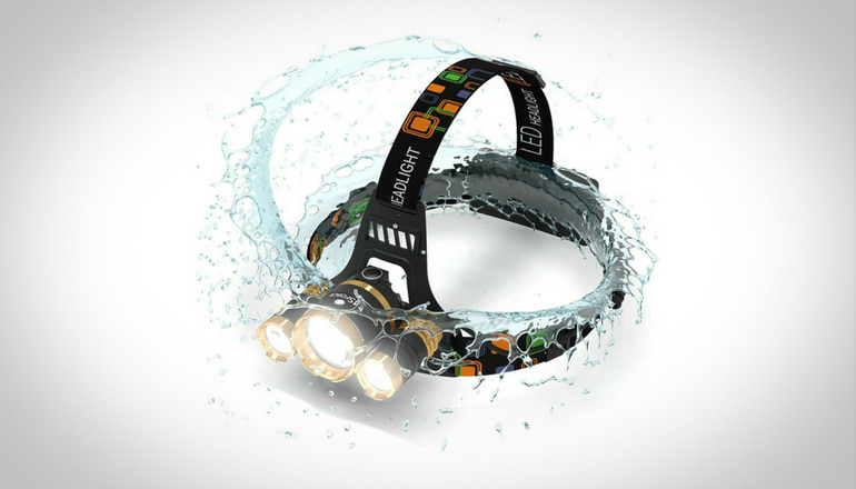 MSforce 6000 Lumens Fishing Headlamp