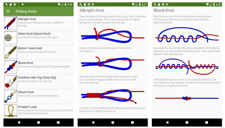 Fishing Knots Android Fishing App